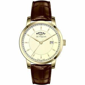 【送料無料】腕時計 ロータリーメンズレオリジナルゴールドストーンrotary gs9007603 mens les originales gold tone wristwatch