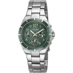 【送料無料】腕時計 orologio breil tribe dart ew0126 chrono bracciale acciaio verde