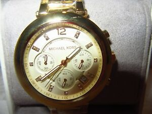 【送料無料】腕時計 ミハエルパーカークロノグラフゴールドトーンウォッチgenuine michael kors womens parker chronograph gold tone watch nib 65