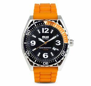 【送料無料】腕時計 ダイバーウォッチショウガmuff diver watch ginger blk