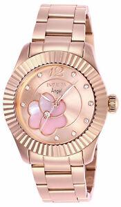 【送料無料】腕時計 バラトーンステンレススチールウォッチ27443 invicta 35mm womens angel rosetone stainless steel watch
