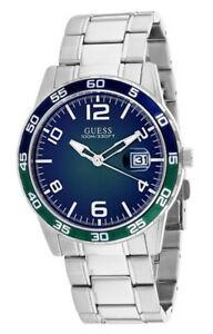 【送料無料】腕時計 ゲスメンズクォーツステンレススチールguess mens recruit quartz 100m stainless steel watch w1172g2
