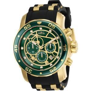 【送料無料】腕時計 プロダイバーメンズラウンドグリーンアナログクロノグラフシリコンウォッチinvicta pro diver 25708 mens round green analog chronograph date silicone watch