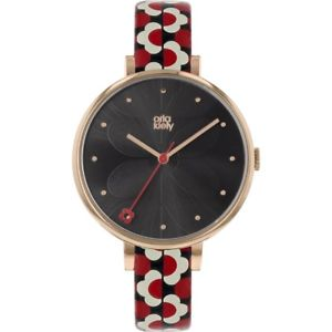 【送料無料】腕時計 アイビーレディースストラップorla kiely ivy ladies leather strap watch ok2196