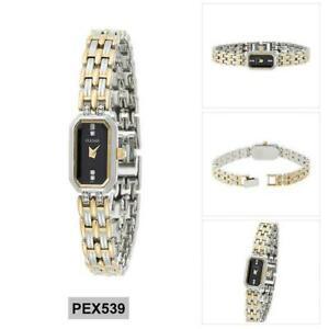 【送料無料】腕時計 パルサーレディースペックストーンケースブレスレットメーカーpulsar watch pex539 ladies traditional two tone casebracelet 50 msrp