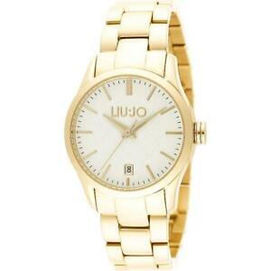 【送料無料】腕時計 ラグジュアリーリュジョドナゴールドビアンコorologio donna liu jo luxury tess tlj886 bracciale acciaio gold dorato bianco