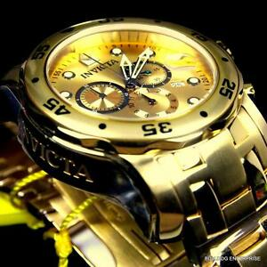 【送料無料】腕時計 men invicta pro diver scuba 18kt gold plated steel chronograph 48mm watch