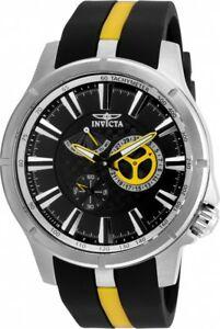 【送料無料】腕時計 メンズラリーブラックイエローラバーストラップウォッチ