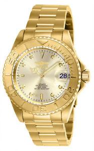 【送料無料】腕時計 メンズプロダイバーステンレススチールinvicta mens pro diver automatic 200m gold plated stainless steel watch 9010ob