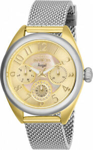 【送料無料】腕時計 トーンステンレスメッシュウォッチinvicta womens angel quartz 100m mop two tone stainless steel mesh watch 27451