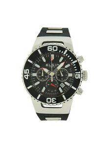 【送料無料】腕時計 メンズブラックシルバーストーンクロノグラフシリコンウォッチ