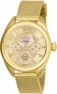 【送料無料】腕時計 ゴールドトーンステンレスメッシュウォッチinvicta womens angel quartz 100m gold tone stainless steel mesh watch 27455