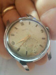 【送料無料】腕時計 ヴィンテージマニュアルvetta vintage watch 37mm orologio oversize carica manuale cal 210
