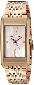 【送料無料】腕時計 テッドベーカーアナログウォッチゴールドトーンスチールブレスレットローズted baker womens rectangular analog watch rose goldtone steel bracelet 10031188