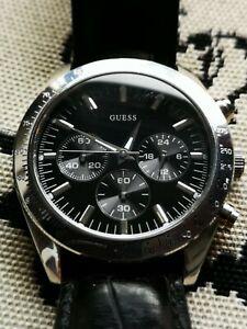【送料無料】腕時計 メンズブラックレザータキメータースピーディベゼルウォッチ