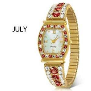 【送料無料】腕時計 ミントストレッチウォッチnib the danbury mint womens july birthstone stretch watch