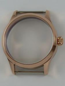 【送料無料】腕時計 ローズゴールドオニオンサファイアケースboitier montre 41mm eta unitas 6497 6498 rosegold onion saphir watchcase