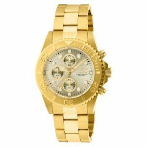 【送料無料】腕時計 メンズプロダイバークロノグラフステンレススチールinvicta mens pro diver chronograph gold plated stainless steel watch 1774