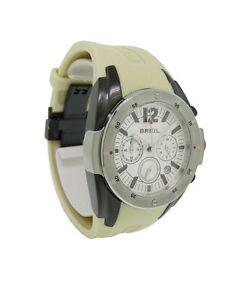 【送料無料】腕時計 メンズラウンドアナログホワイトクロノグラフシリコーンウォッチbreil bw0235 mens round analog white chronograph date silicone taupe watch