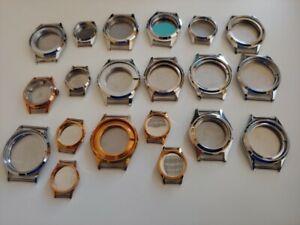 【送料無料】腕時計 メッカディlotto n 20 casse fondo di magazzino per orologi meccanici da uomo acciaio