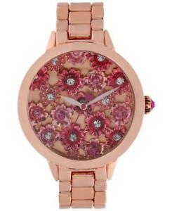 【送料無料】腕時計 ジョンソンフラワーパワークリスタルローズ betsey johnson flower power crystal watch bj0044302 rose gold