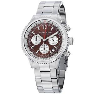 【送料無料】腕時計 モナコ#クロノグラフクォーツstuhrling monaco 669b men039;s 42mm chronograph krysterna quartz date watch 669b03