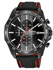 【送料無料】腕時計 クロノネロwatch lorus man quarz gomma nero steel chrono rm387ex9