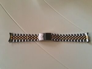 【送料無料】腕時計 ジュビリーアンサオロcinturino jubile per datejustdate ansa 19 mm acciaio e oro