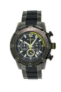 【送料無料】腕時計 メンズラウンドブラッククロノグラフステンレススチールウォッチ