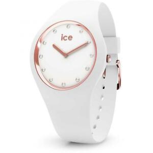 【送料無料】腕時計 コスモスサブメートルシリコーンウォッチorologio ice watch cosmos ic016300 silicone bianco ros sub 100mt