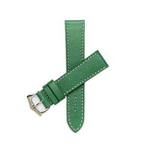 【送料無料】腕時計 レザーウォッチストラップgreen epsom leather watch strap