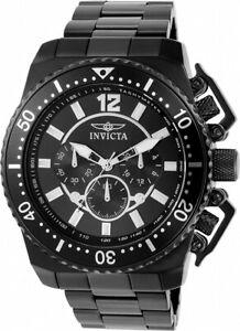 【送料無料】腕時計 メンズプロダイバークロノブラックストーンステンレススチールウォッチ
