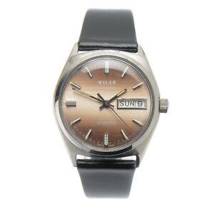 【送料無料】腕時計 ワイラーライフガードクオーツステンレススチールケースオリジナルwyler lifeguard quartz stainless steel case day date running watch original 34mm