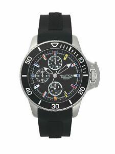 【送料無料】腕時計 ノーティカ#ベイサイドブラックシリコンアナログクォーツファッションウォッチ