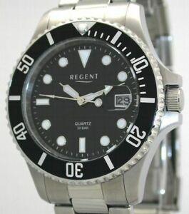 【送料無料】腕時計 リージェントスチールウォッチバーユーロregent steel f371 taucheruhr  30 bar wr uvp* 89,90 eur neu