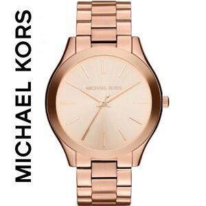 【送料無料】腕時計 ミハエルローズゴールドスリムボックスタグmichael kors mk3197 watch rose gold slim runway brand in box with tags
