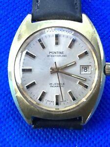 【送料無料】腕時計 ビンテージ#スイスグランプリオートマチックvintage gents 1970039;s swiss gp montine 25j automatic as 1913 date watch