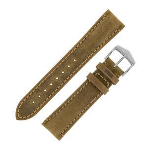 【送料無料】腕時計 ヒルシュカーフスキンレザーウォッチストラップhirsch heritage natural calfskin aged patina leather watch strap in gold brown