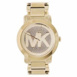 【送料無料】腕時計 ミハエルレディースゴールドトーンステンレススチールブレスレットドルウォッチmichael kors ladies runway goldtone stainless steel bracelet watch mk3462 275