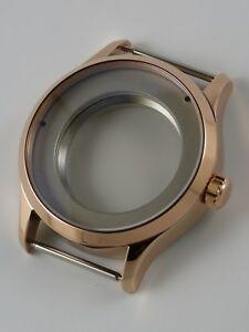 【送料無料】腕時計 ローズゴールドケースサファイアboitier montre 41mm eta 2824 ou sw200 pvd rosegold cylin saphir watchcase