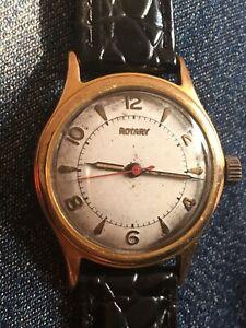 【送料無料】腕時計 ビンテージロータリースイスメンズvintage rotary 1950s swiss 17 jewels 1080 cal mens wrist watch 30mm working