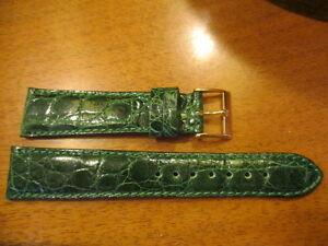 【送料無料】腕時計 クロコダイルブレスレットウエストbracelet en crocodile vert morellato anallergic taille 20