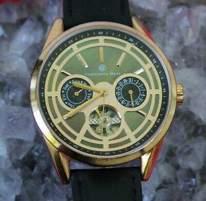 【送料無料】腕時計 クロノグラフメンズウォッチパールconstantin weisz automatik chronograph perlmutt herrenuhr 45 mm