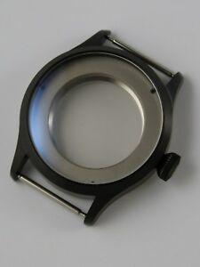 【送料無料】腕時計 サファイアウォッチノワールパイロットケースboitier montre 41mm eta 2824 ou sw200 pvd noir pilot saphir watchcase