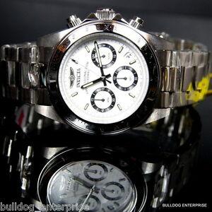 【送料無料】腕時計 メンズスピードウェイデイトナステンレススチールホワイトクロノグラフmens invicta speedway daytona stainless steel white chronograph 200m watch