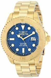 【送料無料】腕時計 プロダイバースイスクオーツアナログinvicta mens pro diver analog display swiss quartz goldplated watch, blue