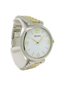 【送料無料】腕時計 ラウンドアナログホワイトシルバーステンレススチールウォッチbulova 98l194 womens round analog white amp; silver tone stainless steel watch