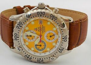 【送料無料】腕時計 クロノビンテージfrecce tricolori pelle time orologio chrono watch uhr very vintage ms460 it