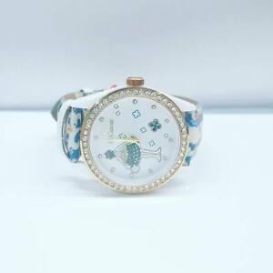 【送料無料】腕時計 ルフィオーリle carose orologio flower dorato seta cristalli orologi pelle cinturino fiori