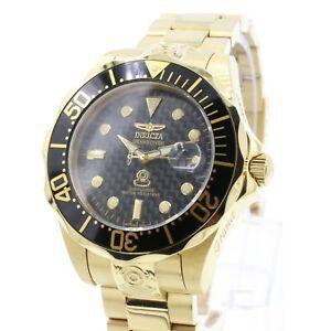 【送料無料】腕時計 メンズプロダイバーkゴールドダイブウォッチラグジュアリーinvicta mens 10642 pro diver 18k gold ionplated automatic dive watch luxury